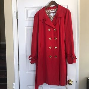 Isaac Mizrahi Live Double Breasted Trench Coat XL